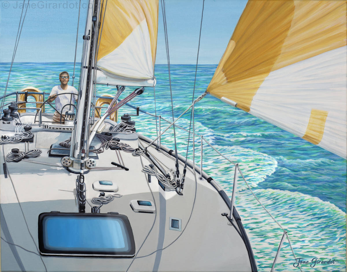 At The Helm - Jane Girardot Art