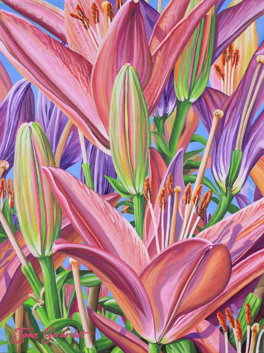 Field Of Lilies - Jane Girardot Art