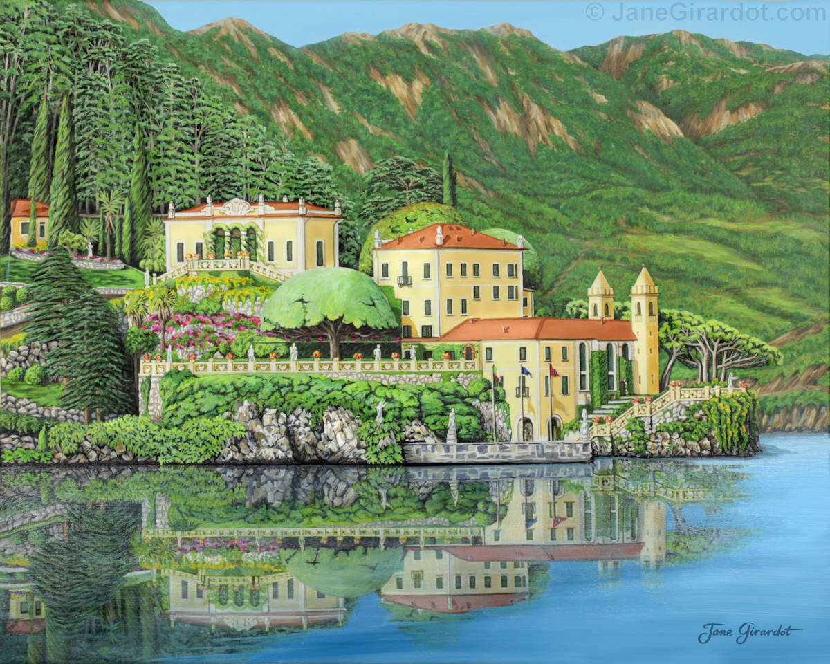 Lake Como Morning - Jane Girardot Art