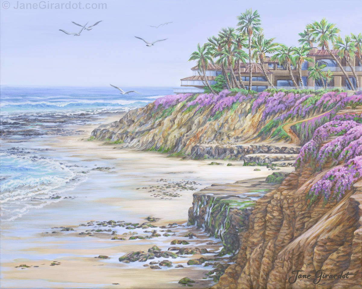 Low Tide Solana Beach - Jane GIrardot Art