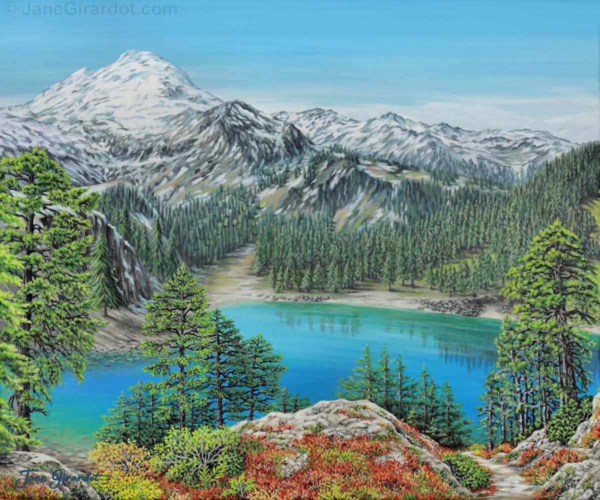 Mount Baker Wilderness - Jane Girardot Art