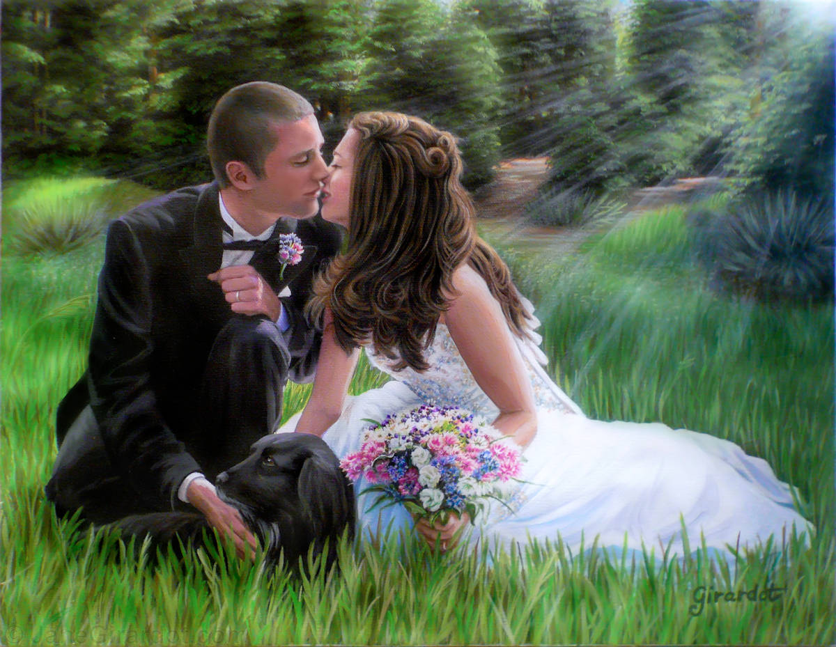 Smith Wedding Portrait - Jane Girardot Art