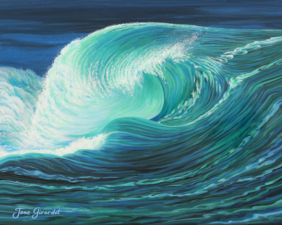 Stormy Wave - Jane Girardot Art