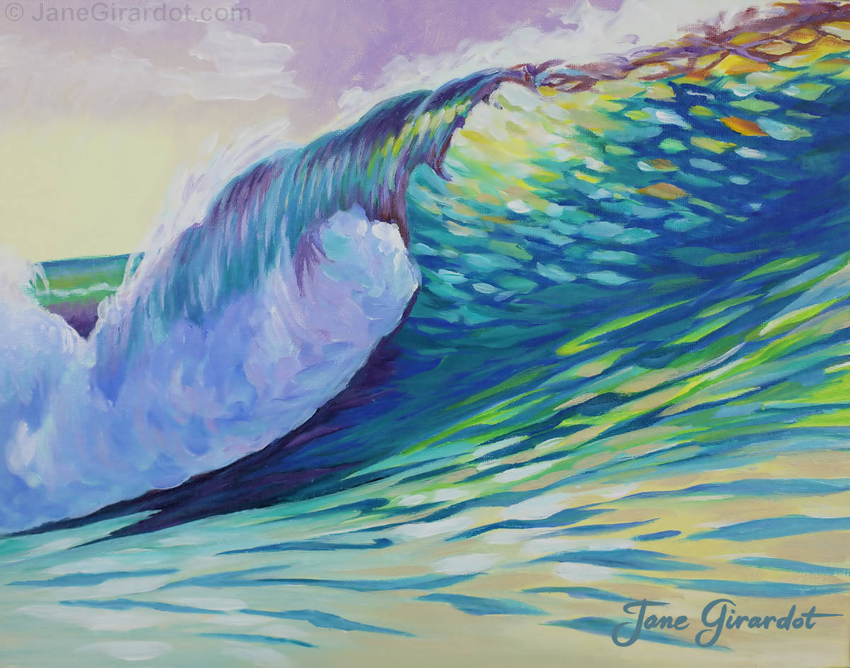 Evening Surf - Jane Girardot Art