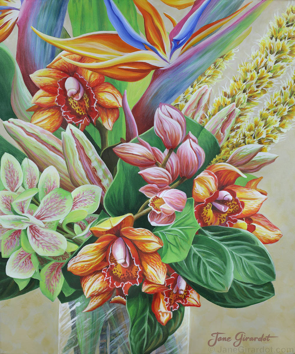 Tropical Bouquet - Jane Girardot Art