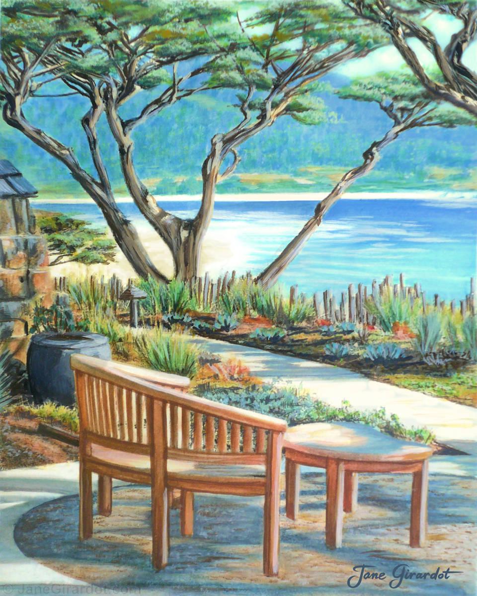 Carmel Lagoon View - Jane Girardot Art