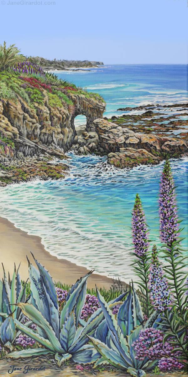 Keyhole Rock Laguna - Jane Girardot Art