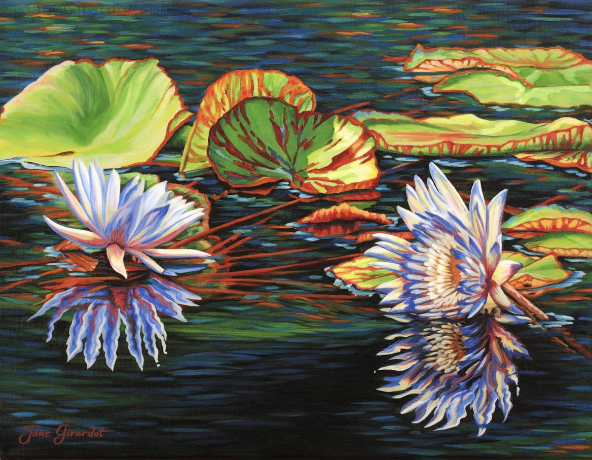 Mirrored Lilies - Jane Girardot Art