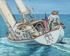 Sailing Away - Jane Girardot Art