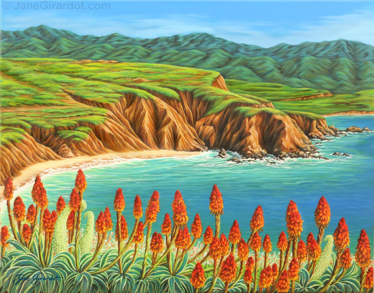 San Mateo Springtime - Jane Girardot Art
