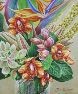 Tropical Bouquet - Jane Girardot Art